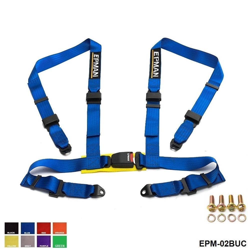 Seat Belts 2 inches 4 Point  Buckle  Nylon Strap Safety Harness Universal  EPM-02BUC-AF new professional safety rock tree climbing rappelling harness seat sitting bust belt safety harness
