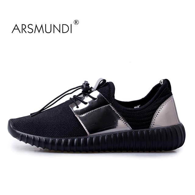 US $68.6  ARSMUNDI Original Laufschuhe ZY 256 Paar Geschenk Yeezy Schuhe PU Stoff Mesh Atmungsaktiv Laufschuhe Für Männer Turnschuhe Männer in