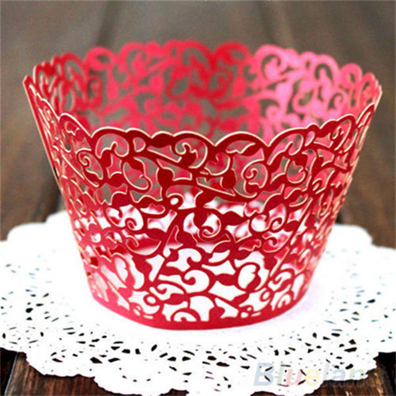 Image 5 - 12Pcs Hot Sanwony Little Vine Lace Laser Cut Cupcake Wrapper Liner Baking Cup Hollow Paper Cake Cup DIY Baking Fondant Cupcake-in Cake Decorating Supplies from Home & Garden