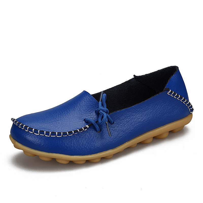 Soft Leisure Flats Women Leather Shoes Moccasins Mother Loafers Casual Female Driving Ballet Footwear 2