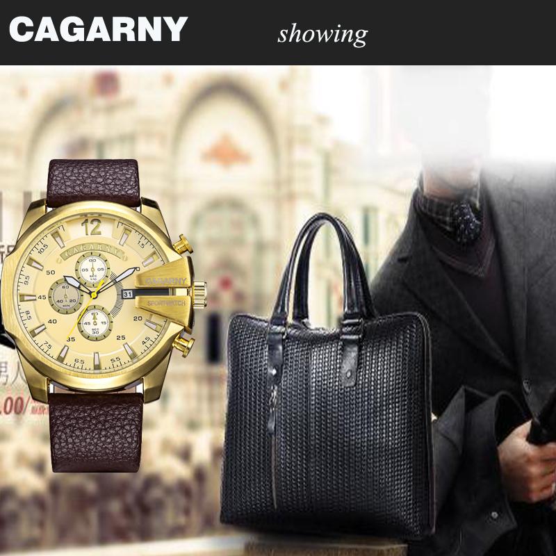 cagarny dz style quartz watch men golden mens watches (2)
