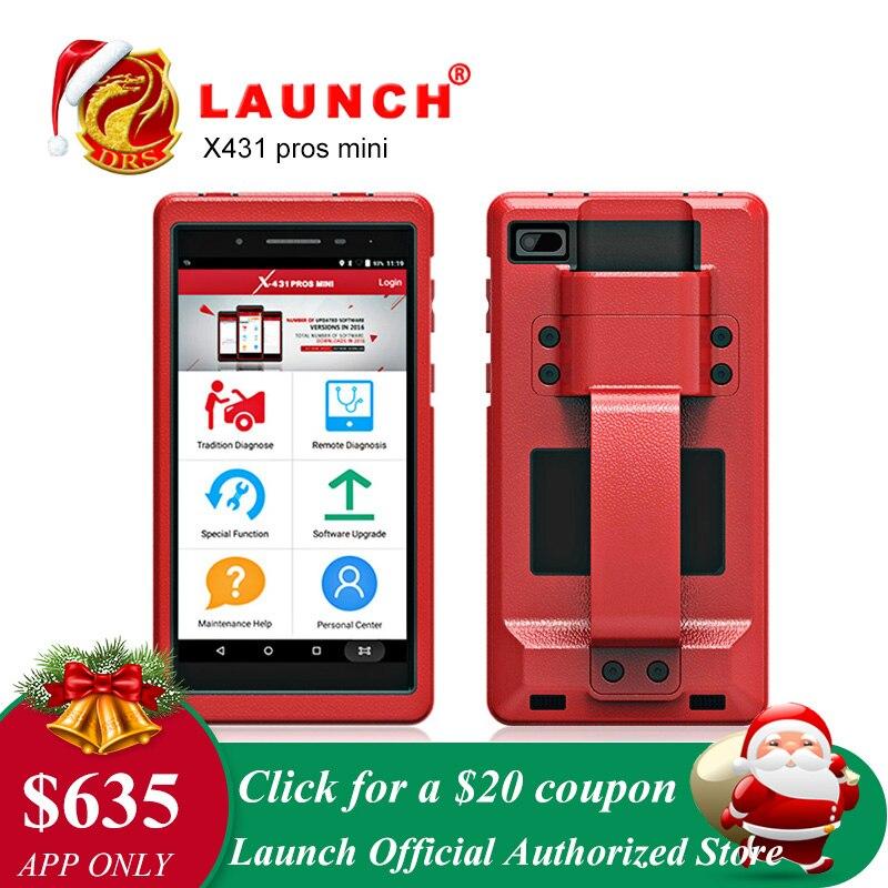 Lancement X431 Pro Pros mini OBD2 De Diagnostic WiFi Bluetooth OBDII Scanner De Diagnostic ECU Codage Automobile Outils comme Lancement x431 V 8