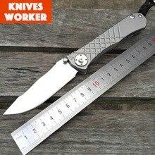 LDT CR Umnumzaan Folding Blade Knives Real D2 Blade TC4 Titanium Handle Tactical Outdoor Camping Hunting Survival Knife EDC Tool