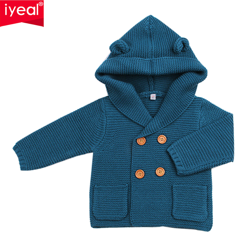 brand cardigan sweater for girls 2018 winter thick sweaters coat kids boys infant clothes children toddler casual sweater IYEAL Children's Sweaters Hooded Girls Boys Knitted Sweater Autumn Winter Toddler Infant Casual Kids Knitwear Baby Clothes