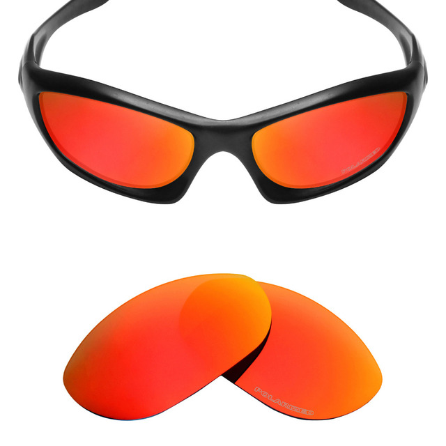 26ae2cfa5c Mryok+ POLARIZED Resist SeaWater Replacement Lenses for Oakley Monster Dog  Sunglasses Fire Red