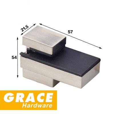 Clip de cristal para el hogar nuevo gabinete ajustado F abrazadera boca de pez Clip soporte placa Clip partes
