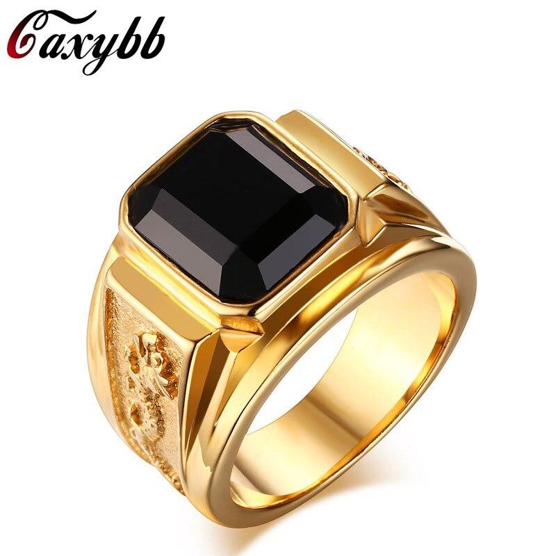 Внешняя торговля Горячая кольцо Ретро из нержавеющей стали мужские кольца вакуум покрытие золотое кольцо RC-183