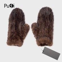 Pudi GF702 перчатки из натурального меха норки варежки дизайн меха для этой зимы
