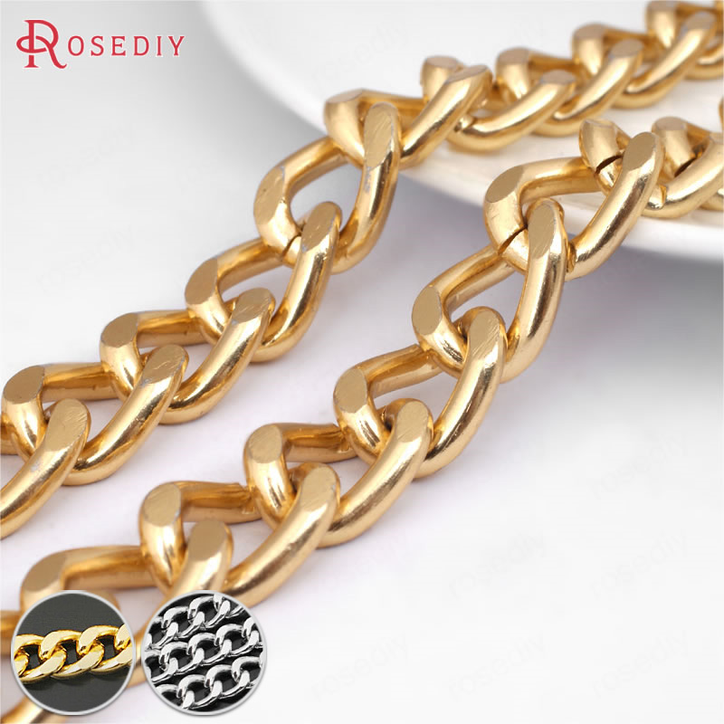 (25768)1 Meter Single Link 11*8MM 18*13MM Aluminum Extended Chain Connect Chains Diy Jewelry Findings Accessories Wholesale