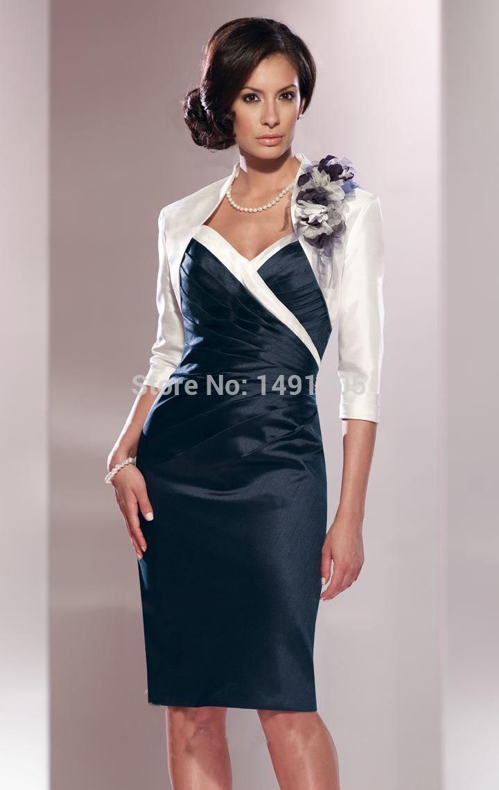 0844ebd540 Mother Of The Bride Dresses Navy Blue Tea Length - Gomes Weine AG