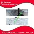 Ru/ruso teclado del ordenador portátil para toshiba satellite c50 c50d c50-a c50d-a c55 c55t c55d c55-a c55d-a 0kn0-ck1ru13 ru blanco