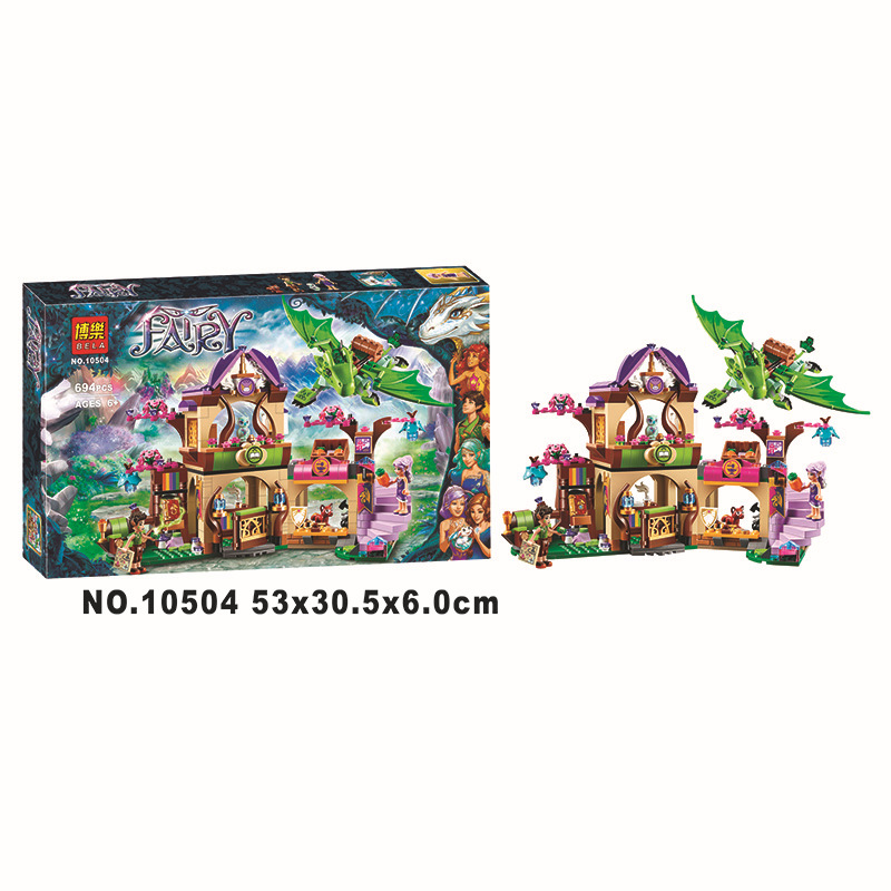 ФОТО NEW 10504 Elves Secret Place parenting activity education model building blocks of the new year girls toys