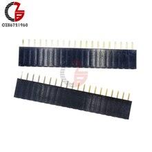 10 шт. 20Pin 2,54 мм Однорядный штыревой разъем 1x20 прямой штыревой разъем шаг для Arduino