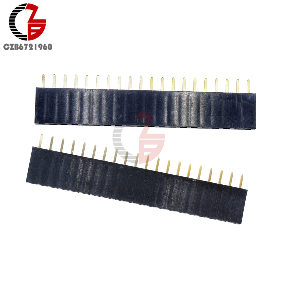 10Pcs 20Pin 2.54mm Single Row Female Pin Header 1x20 Straight Pin Socket Connector Pitch For Arduino