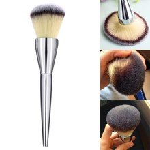 1pcs Hot Sale Face Makeup Blush Powder Silver Color Handle Cosmetic Large Make Up Brushes GUB#