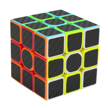 3x3x3 Carbon Fiber Sticker Speed Magic Cubes Puzzle Toy Children Kids Gift Toy Youth Adult Instruction Professional Cube 1