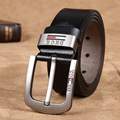 men's fashion leather belt Retro Leather Belt Buckle Belt brand all-match simple needle