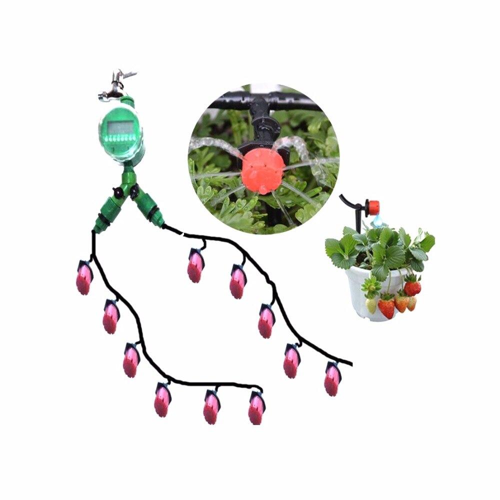 30m 4/7mm Garden Hose Horticultural Garden Irrigation Suits Drip Irrigation System Home Flower Plants Irrigation Watering Kits