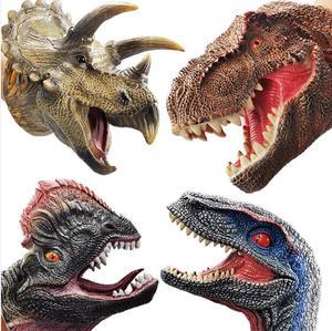 Image 3 - Kinder spiele Shark Dinosaurier Handpuppe Weiche Gummi Tier Kopf Handpuppen Realistische Shark Modell Abbildung Spielzeug Für Kinder Geschenke