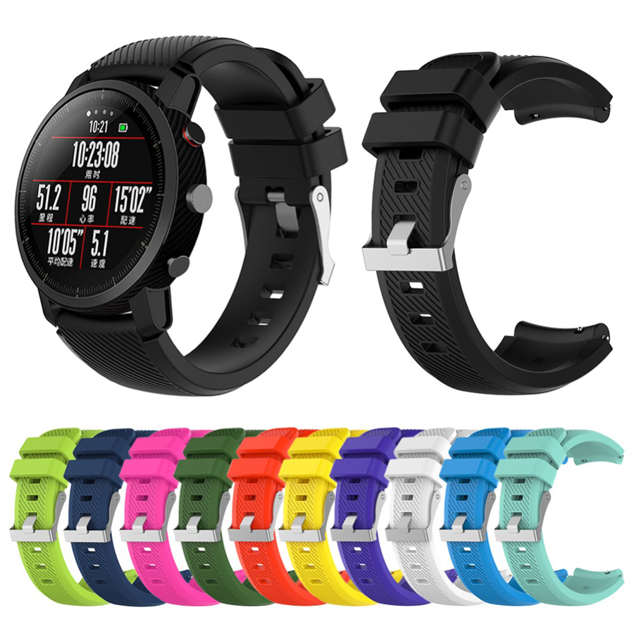 For Amazfit Stratos Strap 22mm Watch Band Bracelet For Xiaomi Watch 1 2 2S Amazfit Pace Colorful Replacement Band Accessories
