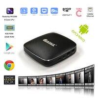 QINTAIX Android 6 0 TV Box Rockchip RK3399 CPU Metal Shell 4GB RAM 32GB ROM LAN