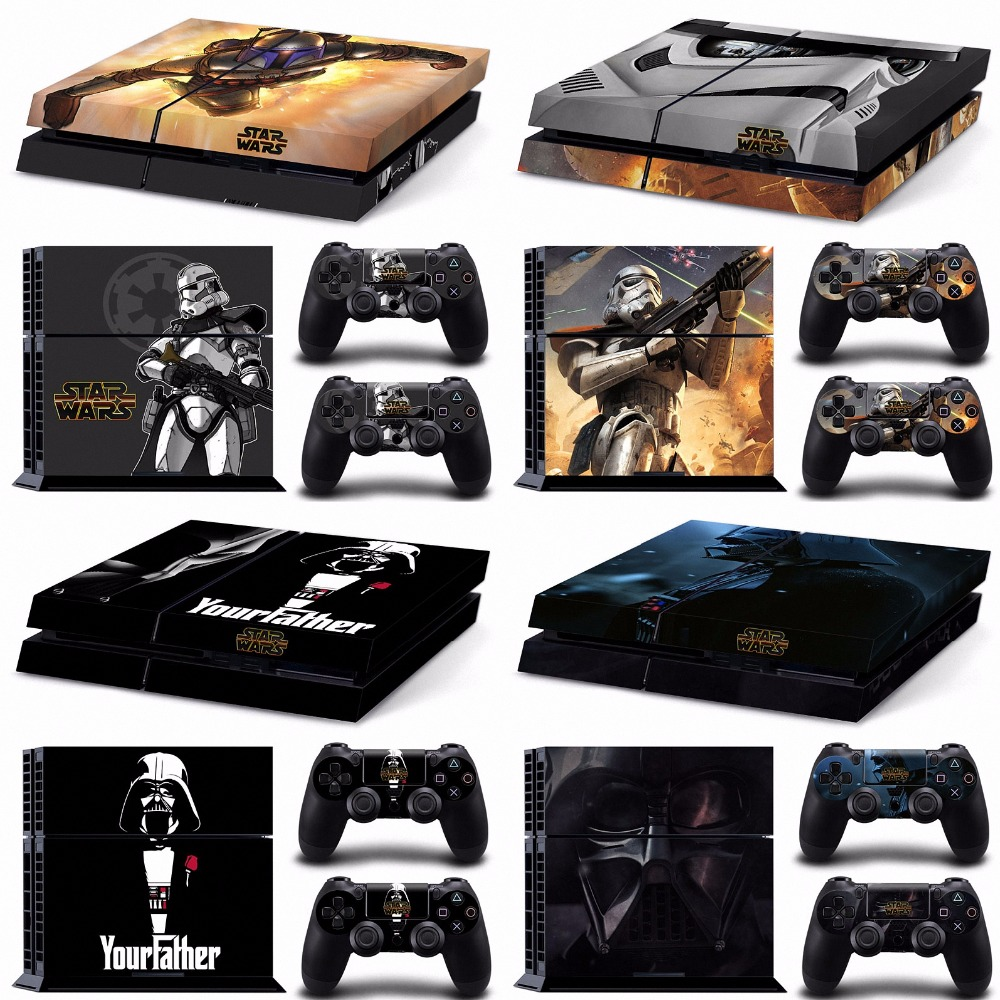 God of war limited edition call of duty black star wars ps4 skin sticker for sony playstation 4 sticker wrap decal