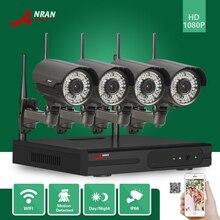 Anran наблюдения 1080 P 4CH HD видеорегистратор сетевой Беспроводной 2MP 78 ИК 2.8-12 мм зум-объектив безопасности WI-FI IP Камера видеонаблюдения Системы