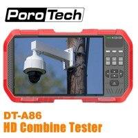 CCTV Tester HD Combine Tester DT A86 7 Inch H.265 4K IP camera tester 8MP TVI CVI 5MP AHD CVBS Monitor Multimeter
