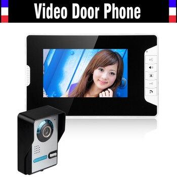 7 Inch Video Door Phone Intercom System Video Doorbell Doorphone Kit  IR Night Vision Waterproof Outdoor Camera for villa