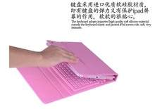 New Fold Waterproof Soft Siliocn Wireless Bluetooth Keyboard Stand PU Leather Cover Case For Apple iPad Air2 6 9.7 inch Tablet