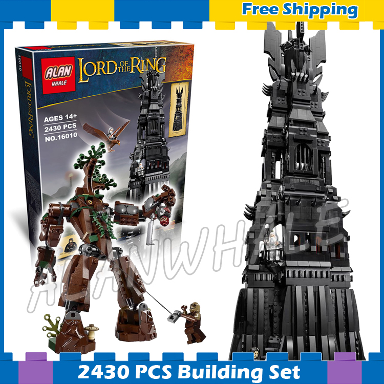 2430pcs Lord of the Rings Movie Tower of Orthanc Ent stands Battle 16010 Model Building Blocks Gifts sets Compatible with Lego