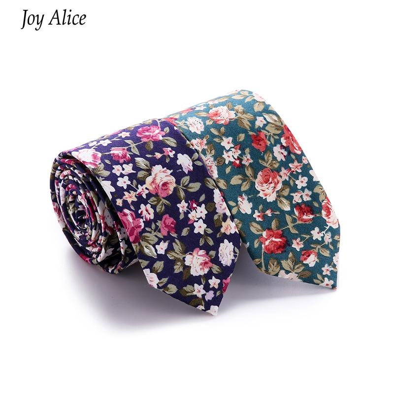 Férfi pamut vékony nyakkendő virág vékony nyakkendők keskeny - Ruházati kiegészítők