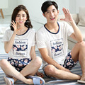 Marca Nueva Pareja de Algodón Pijama pijamas de Los Hombres de Las Mujeres Dormir y Descansar ropa de Dormir Blanco Pijamas Conjuntos Ropa de Sport