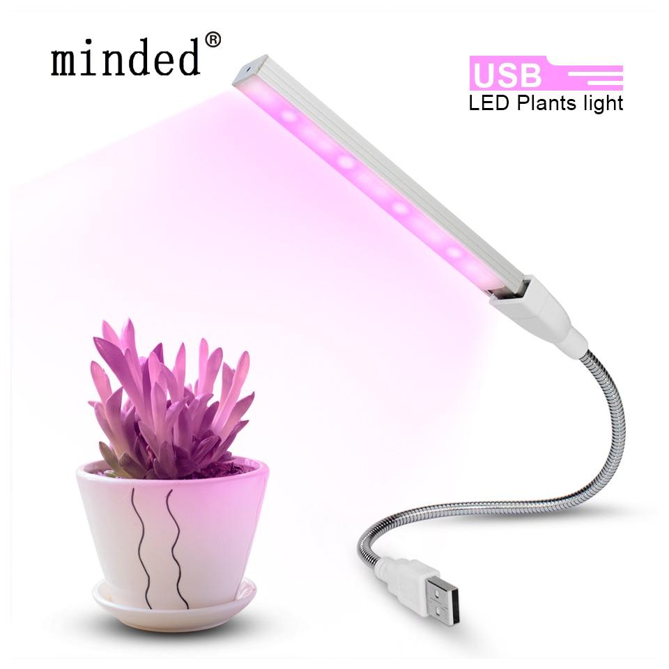 USB Led Grow Light Full Spectrum Fitolampy Usb DC 5V 3W Led Plant Grow Light Flexible Led Growing Lamp For Indoor Plant Flower