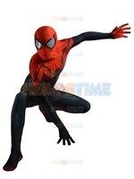 2015 Newest Superior Spider Man Costume 3D Printing Spandex Black Red Spiderman Superhero Costume For Halloween