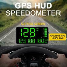 Gps HUD цифровой дисплей для автомобилей, грузовиков, измеритель скорости Предупреждение о скорости, универсальное безопасное Предупреждение, авто интерьерные датчики, датчики скорости