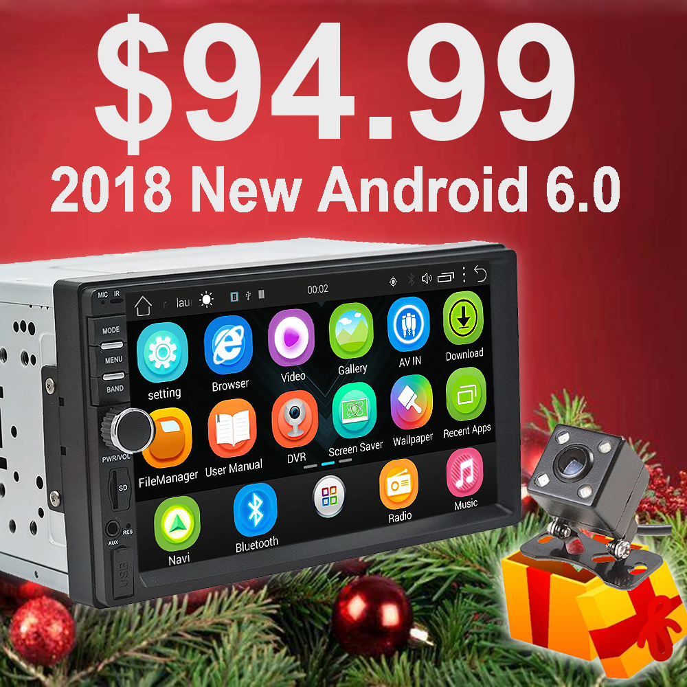 Rhythm 2 din android 6.0 car radio auto bluetooth double din multimedia player universal GPS Navigation 1024*600 support dab 2 din autoradio car radio multimedia player gps navigation camera bluetooth mp4 mp5 stereo audio auto electronic steering wheel
