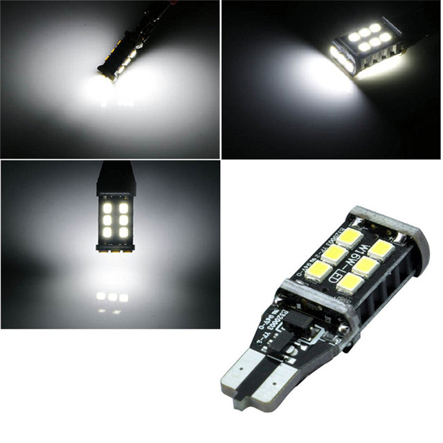 Cls  Car styling New Canbus Car LED 7.5w T15 LED Reverse Light W16W 15SMD Aug 15