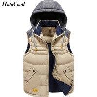 ホット販売新しい秋冬男の綿厚いベストファッションブランドメンズジャケットコート男性オーバーコートベスト男性の上着ベスト脂