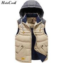 Hot Sale New Autumn Winter Man Cotton Thick Vest Fashion Brand Men's Jacket Coats Male Overcoat Vest Men's Outerwear Vest Fat