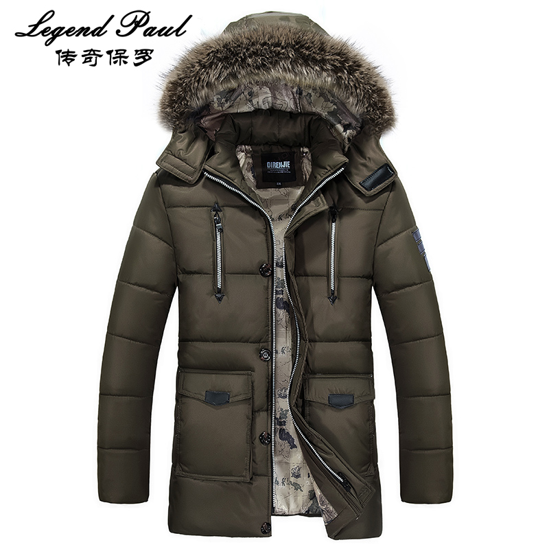 100% Polyester Mens Long Sleeve Parka Hat Detachable Mens Fashion Warm Coat Male Hooded Plus Size Jacket 4XL