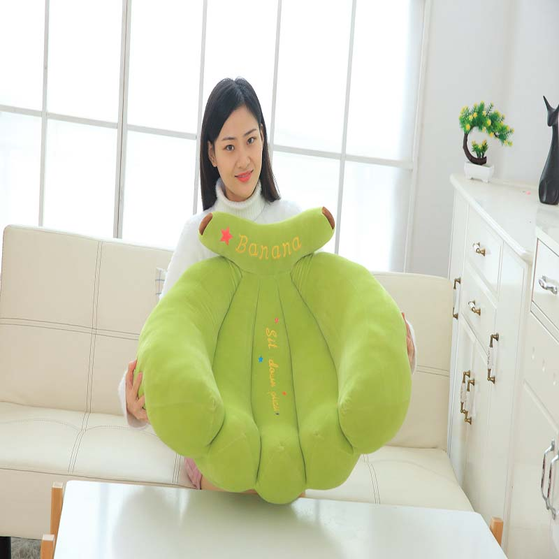 Large cute stretch banana sofa pillow creative fruit chair simple lazy simulation cartoon stretch banana sofa pillow - 5