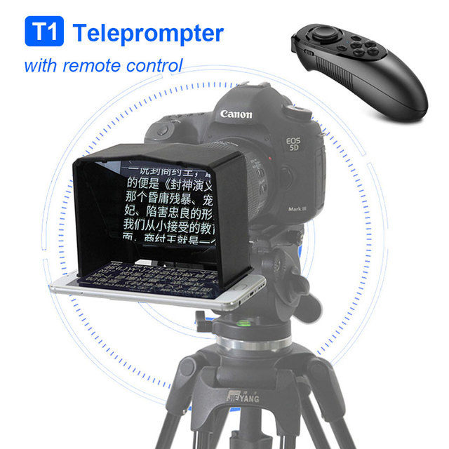Bestview T1 Teleprompter Portable Smartphone Prompter for canon nikon sony Camera DSLR Interview shooting Video Teleprompter