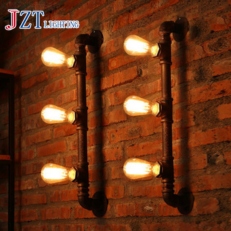 T Loft Retro Industrial Wall Lamp For Bar&Coffee Shop&Restaurant American Style Iron Bedside Lighting Corridor Aisle new arrival retro style restaurant coffee shop decoration iron wall lamp 40w e27 corridor bedside wall sconces lighting