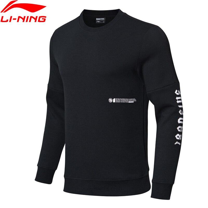 Li-ning Männer Schlechte FÜnf Basketball Serie Pullover 66% Baumwolle 34% Polyester Regelmäßige Fit Futter Komfort Sport Hoodie Awdn857 Mww1463 Sportbekleidung Hemden