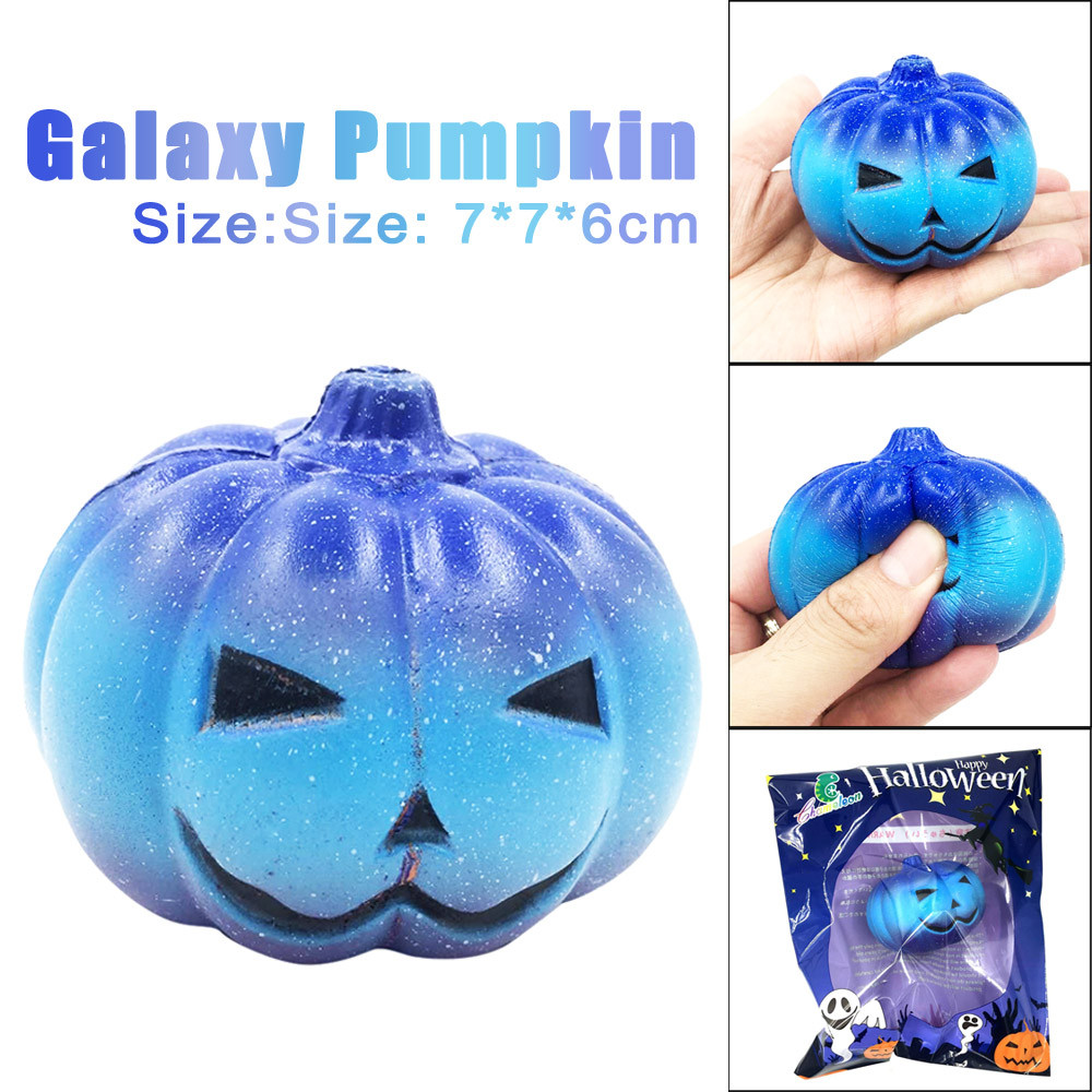 Squishy Kawaii Jumbo Toys Slow Rising Squeeze Halloween Pumpkin Stress Reliever Stress Relief Antistress Funny Toy 7cm FE09d