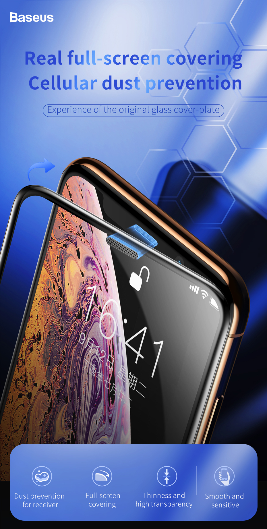 Baseus iPhone XR Tempered Glass Screen Protector