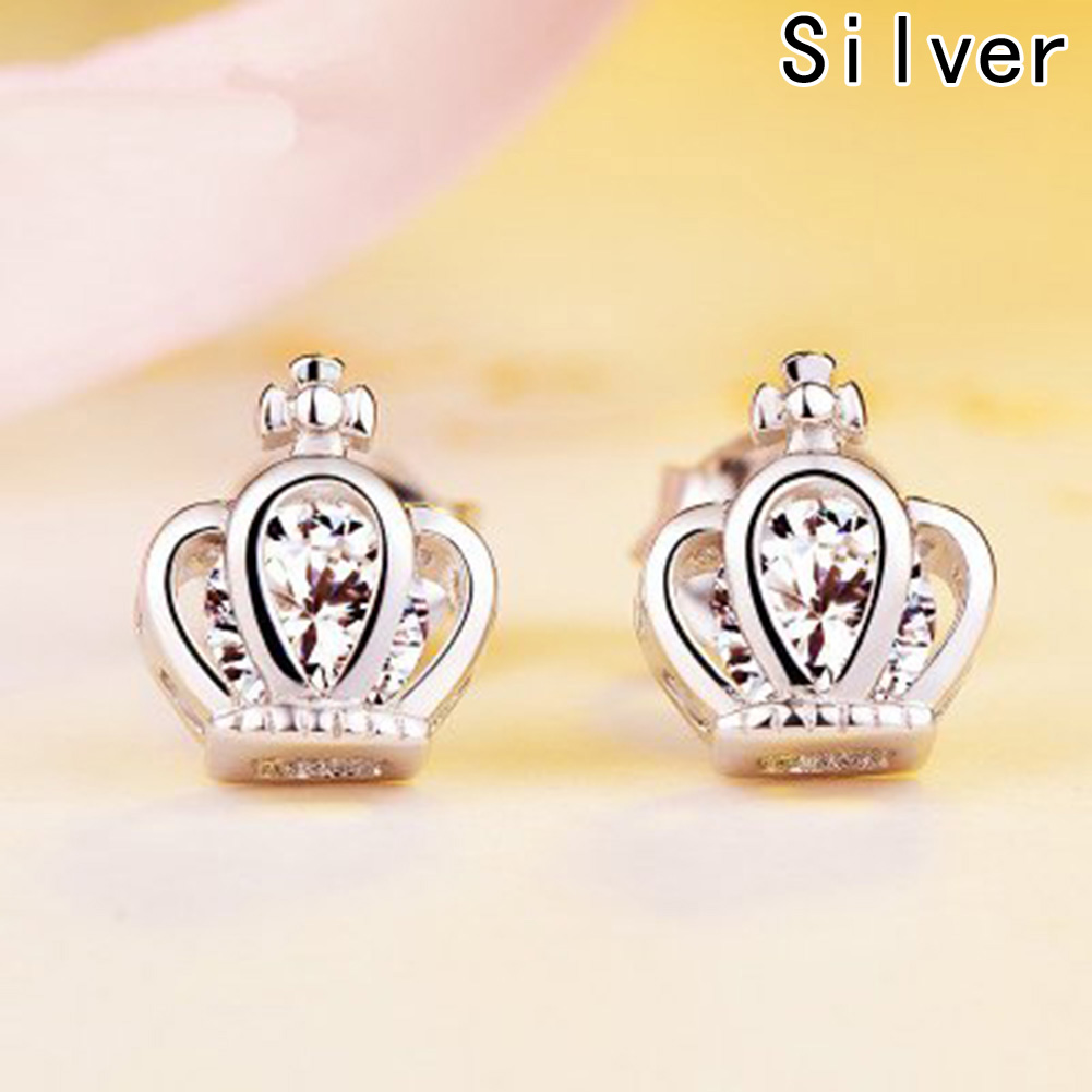 Temperament Personality Retro Smart Crown Earrings For Women Wedding Earings Girl Jewelry