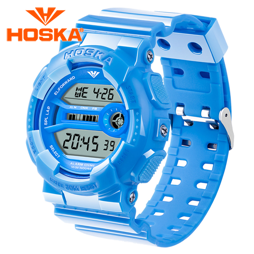 Brand HOSKA women s watches digital watch women sport led digital watch waterproof Multifunction Classic relogio