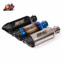 38 51mm Universal Motorcycle Exhaust Tip Muffler Silencer Tail Pipe Slip on Dirt Bike ATV for KTM 200 390 Ninja 400 300